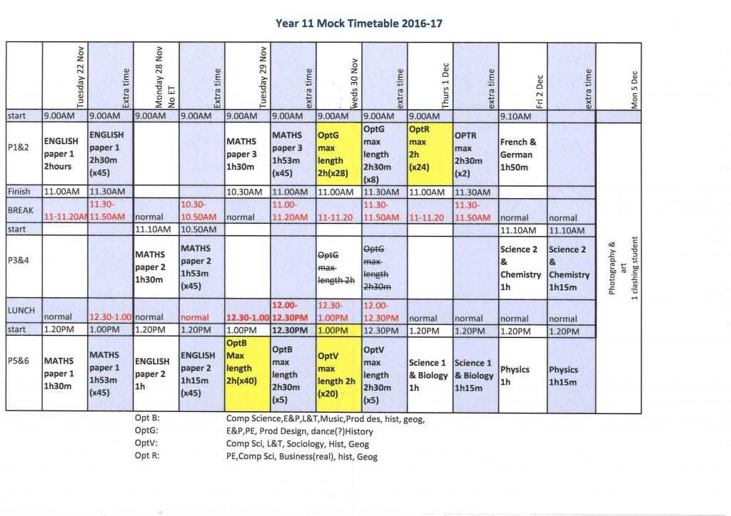 year-11-mocks-timetable