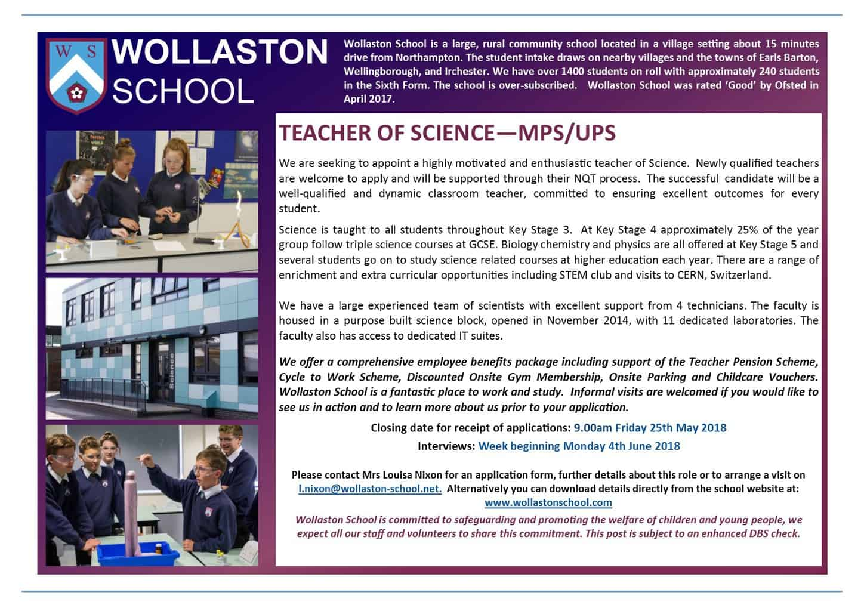 Teacher of Science - May 2018 - v2