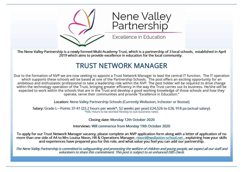 Trust Network Manager - ADVERT - Sept 2020