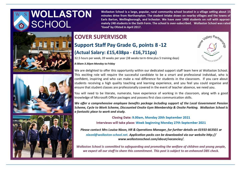 Cover Supervisor - Advert Sept 2021